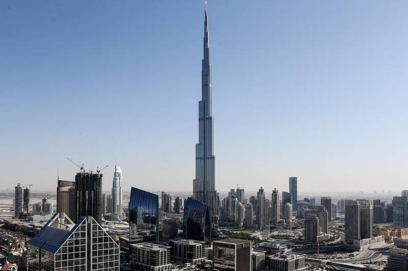 DUBAI, UAE. November 10, 2014 - Stock photograph of Downtown Dubai and the Burj Khalifa in Dubai, November 10, 2014. (Photos by: Sarah Dea/The National, Story by: Standalone, Stock)