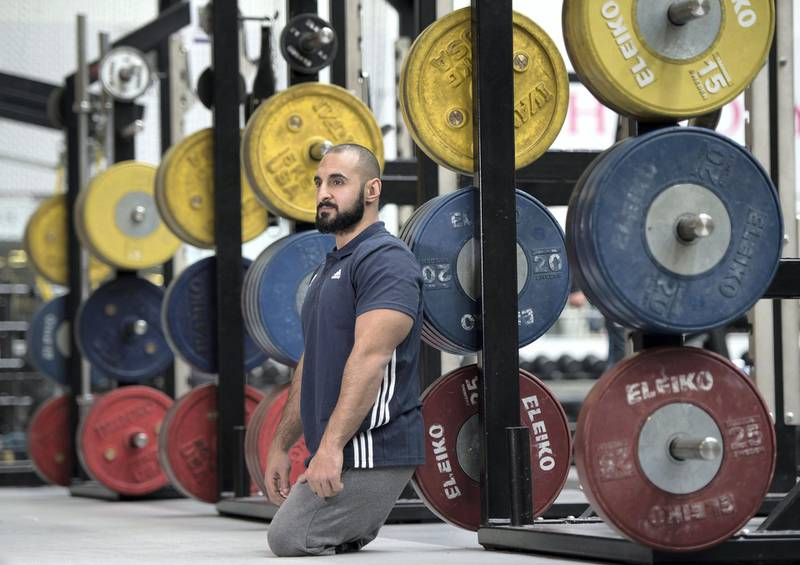 LOUGHBOROUGH, ENGLAND - APRIL 18:  Ali Jawad of Paralympics GB Powerlifting Team poses for a portrait during the Paralympic Team Announcement at Loughborough University on April 18, 2016 in Loughborough, England.  (Photo by Laurence Griffiths/Getty Images)