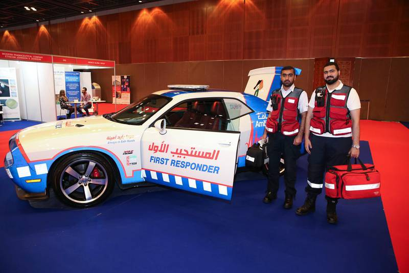 Dubai Ambulance's new vehicles (Courtesy: Aletihad) *** Local Caption ***  1545327.JPG