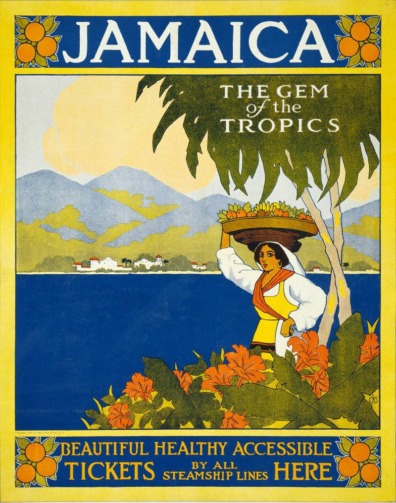 JGXN2A JAMAICA travel poster published by Thomas Cook company about 1910