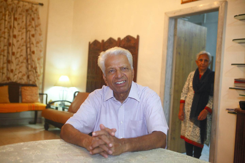 09 Aug 2017 - Mumbai , INDIA. Ramkumar Bharadwaj  stays with his wife at his Home at Bandra in Mumbai.  (Subhash Sharma for The National)
