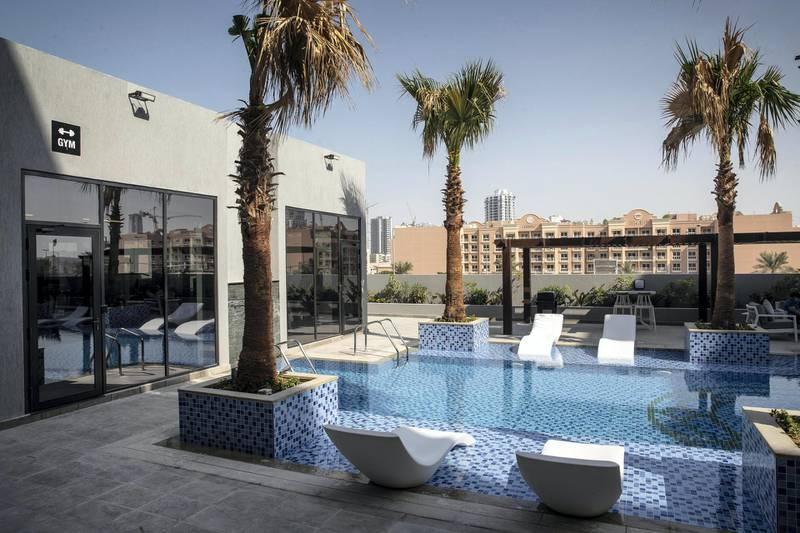 DUBAI UNITED ARAB EMIRATES. 12 NOVEMBER 2020. Community guide: Jumeirah Village Circle. Chaimaa Avenue apartments. (Photo: Antonie Robertson/The National) Journalist: Sarwat Nasir. Section: Business.