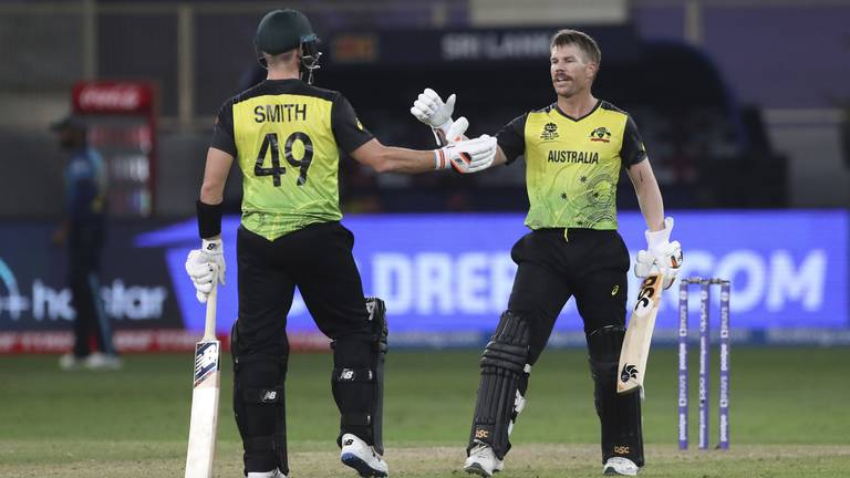 An image that illustrates this article Warner returns to form as Australia ease past Sri Lanka in T20 World Cup