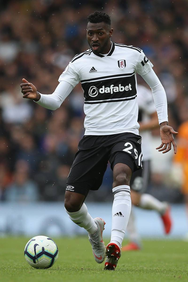 LONDON, ENGLAND - SEPTEMBER 22: Andre-Frank Zambo Anguissa of Fulham in action during the Premier League match between Fulham FC and Watford FC at Craven Cottage on September 22, 2018 in London, United Kingdom. (Photo by Steve Bardens/Getty Images)