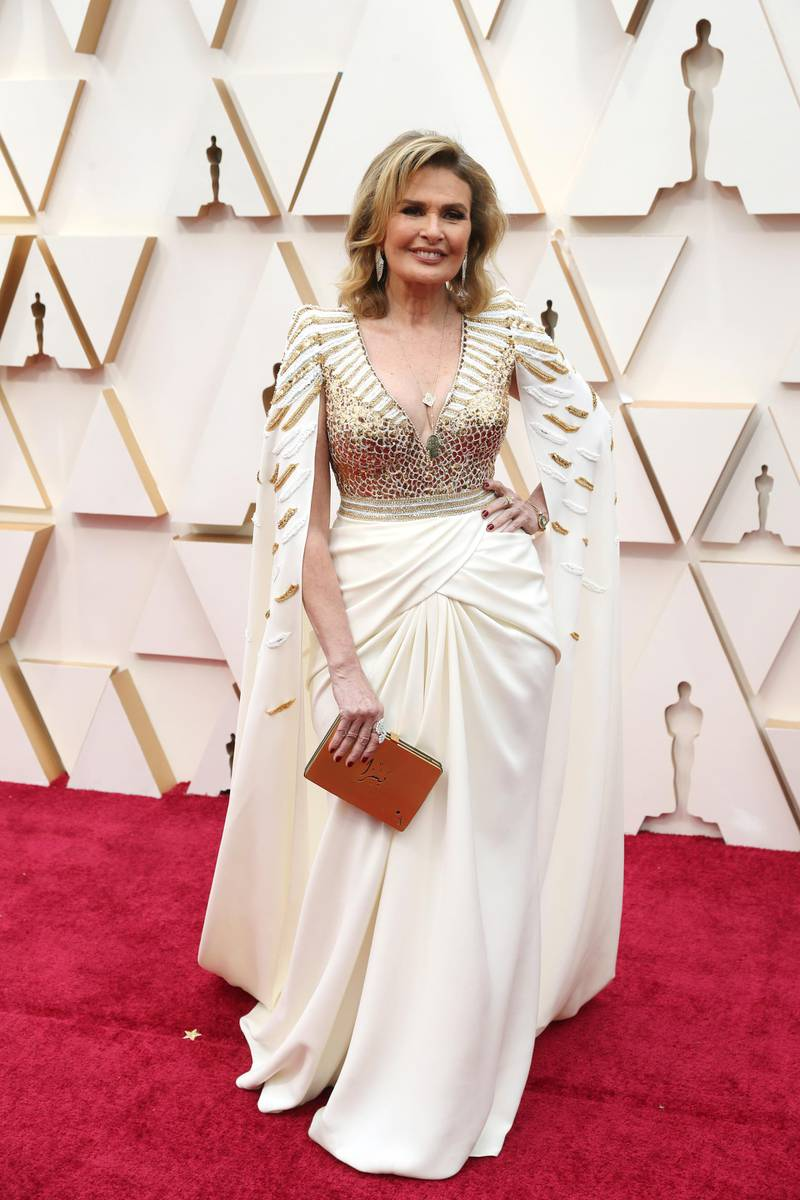 epa08207029 Youssra arrives for the 92nd annual Academy Awards ceremony at the Dolby Theatre in Hollywood, California, USA, 09 February 2020. The Oscars are presented for outstanding individual or collective efforts in filmmaking in 24 categories.  EPA-EFE/DAVID SWANSON