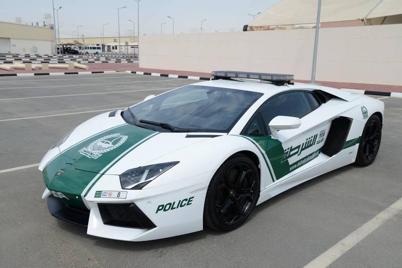 May 5, 2013 - provided photo of the Lamborghini Aventador patrol car  owned by the Dubai Police   Courtesy Dubai Police