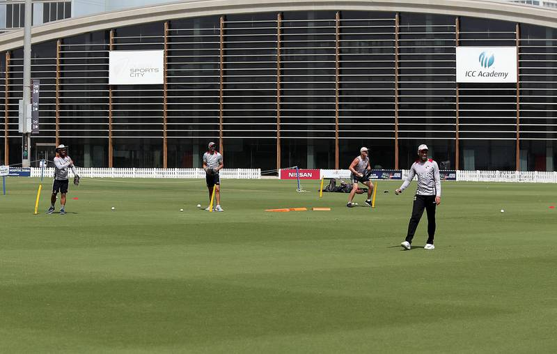 Dubai, March, 31, 2019: UAE cricket team trains ahead of tour to Zimbabwe at the ICC Academy in Dubai. Satish Kumar/ For the National / Story by Paul Radley