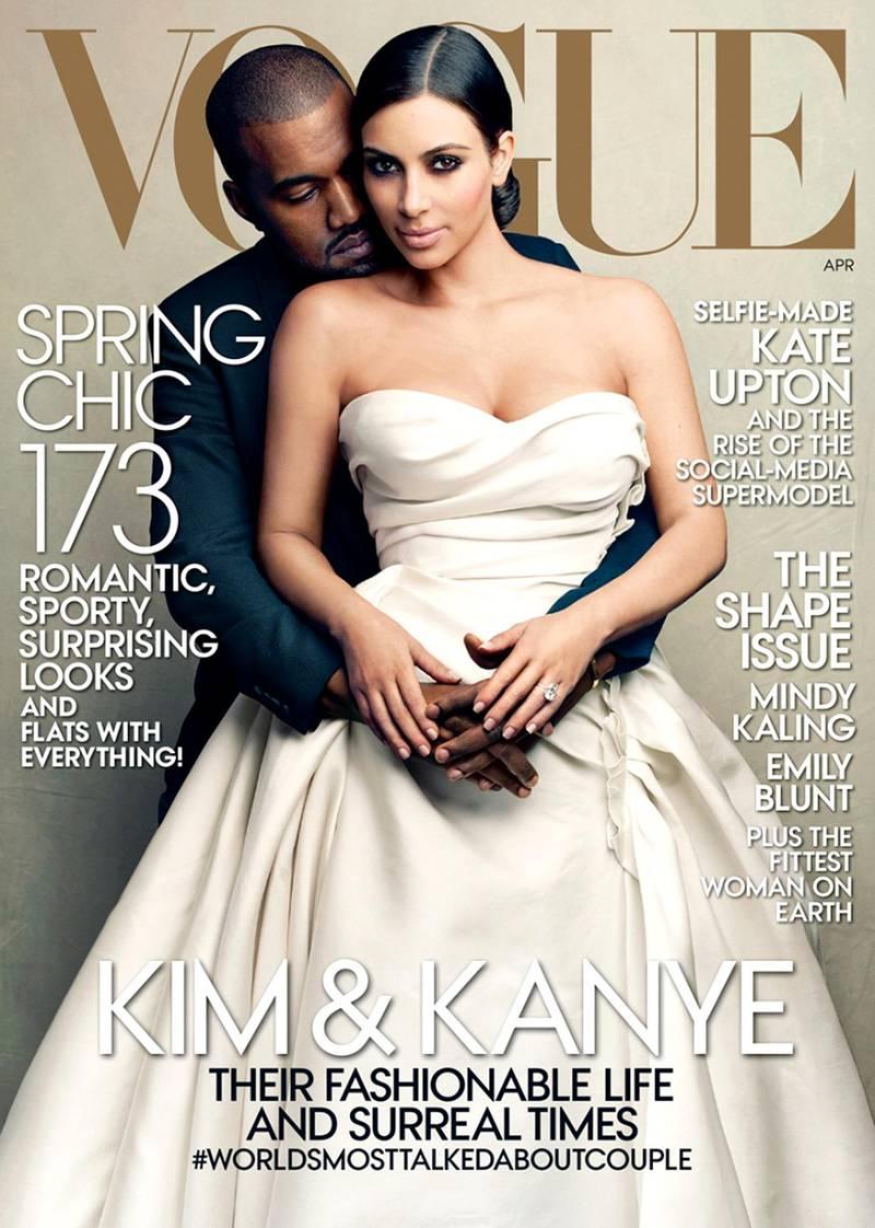 the April 2014 cover of Vogue magazine showing Kanye West and Kim Kardashian.CREDIT: Courtesy Vogue