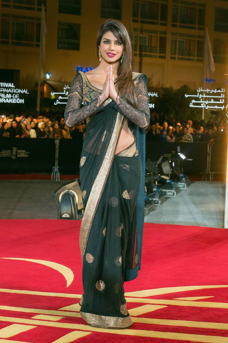 MARRAKECH, MOROCCO - DECEMBER 08:  : Indian actress Pryianka Chopra arrives to the awrard ceremony of the 12th International Marrakech Film Festival on December 8, 2012 in Marrakech, Morocco.  (Photo by Dominique Charriau/Getty Images)
