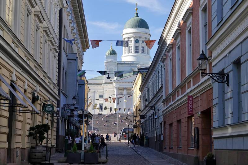 epa06880933 A general view of the cathedral in the historic city centre, Helsinki, Finland, 26 May 2018 (issued 11 July 2018). The Presidents of Russia and the United States, Vladimir Putin and Donald Trump will meet for a bilateral summit on 16 July 2018 in Helsinki.  EPA/MAURITZ ANTIN