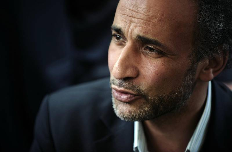 """(FILES) In this file photo taken on April 25, 2010 Muslim Swiss intellectual Tariq Ramadan participates in a conference untitled """"living together"""" at El Arhama mosque in Nantes, western France. Prominent Islamic scholar Tariq Ramadan on October 22, 2018 has admitted consensual sexual relations with two women who accused him of rape, said his lawyer. / AFP / JEAN-SEBASTIEN EVRARD"""