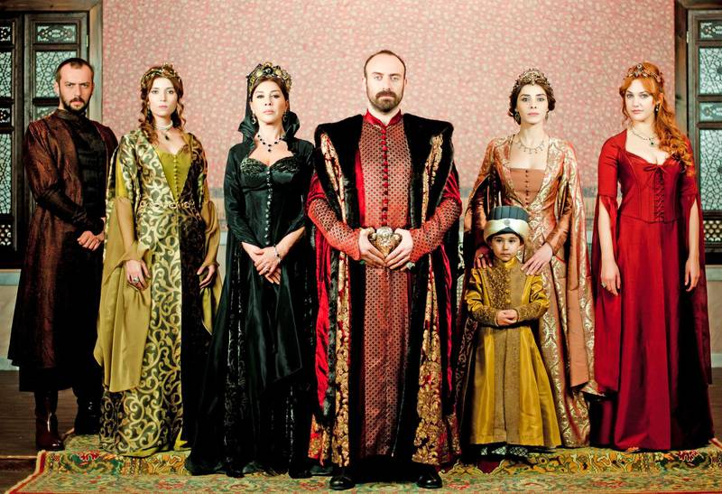 Cast of Turkish television series 'Hareem Al Sultan' or Magnificent Century. Courtesy Tims Productions