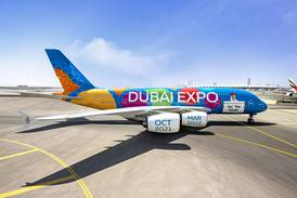 Emirates reveals special Expo 2020 Dubai livery: 'Be part of the magic'