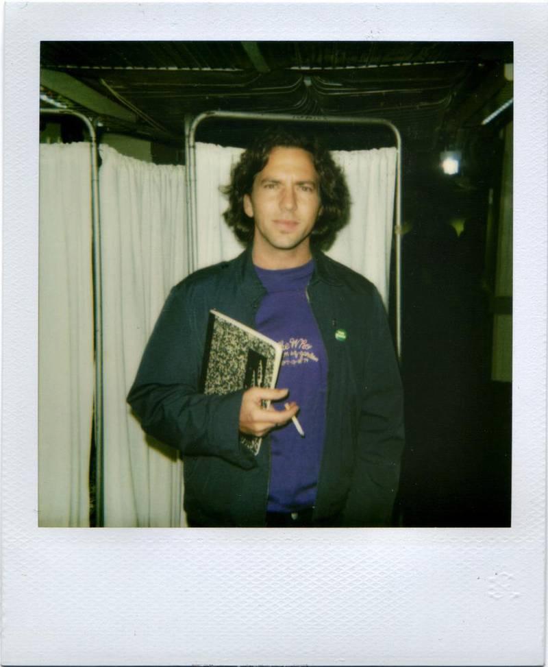 Polaroid of Eddie Veder. Courtesy Julian Castaldi