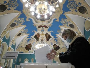 Russia elections - in pictures