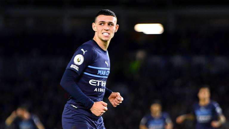 An image that illustrates this article Guardiola says Foden 'will keep improving' after star turn at Brighton