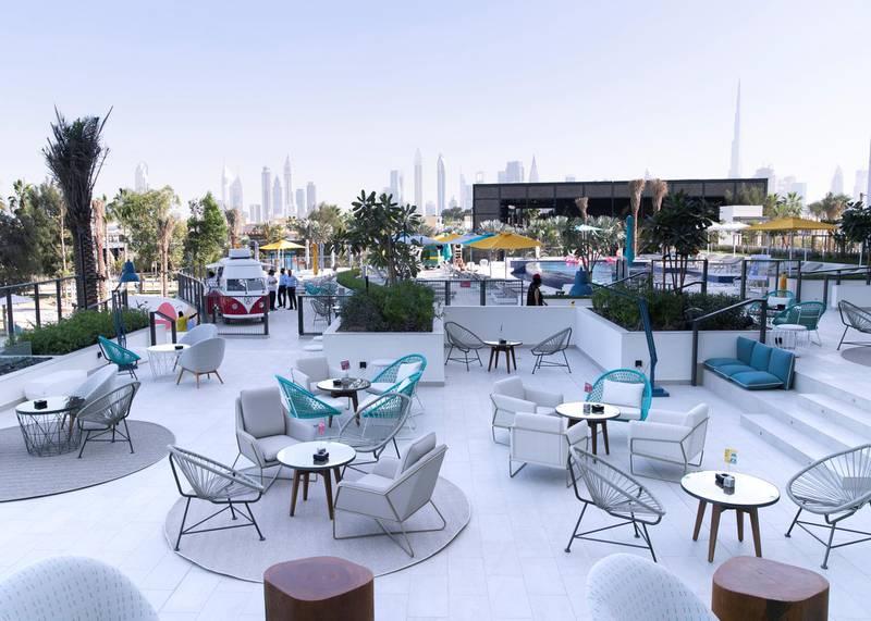 DUBAI, UNITED ARAB EMIRATES. 16 DECEMBER 2020. Rove La Mer terrace. (Photo: Reem Mohammed/The National)Reporter:Section: