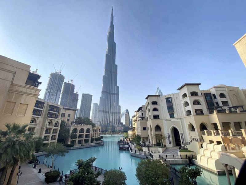 FILE PHOTO: A general view shows the area outside the Burj Khalifa, the world's tallest building, mostly deserted, after a curfew was imposed to prevent the spread of the coronavirus disease (COVID-19), in Dubai, United Arab Emirates March 25, 2020. REUTERS/Tarek Fahmy/File Photo