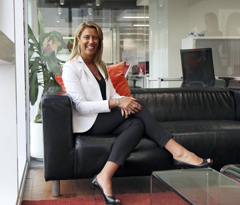 Dubai, Feb 28, 2018: Donna Benton, Founder, The Entertainer pose during the interview at her office in Dubai. Satish Kumar for the National/ For Money & Me