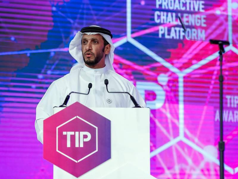 Abu Dhabi, UAE.  May 9, 2018. TIP (Technology Innovation Pioneers) Awards.  H.E. Shaikh Abdulla Bin Mohamed Al Hamed, Chairman of Department of Health, Abu Dhabi.Victor Besa / The NationalNationalReporter:  Shareena Al Nuwais