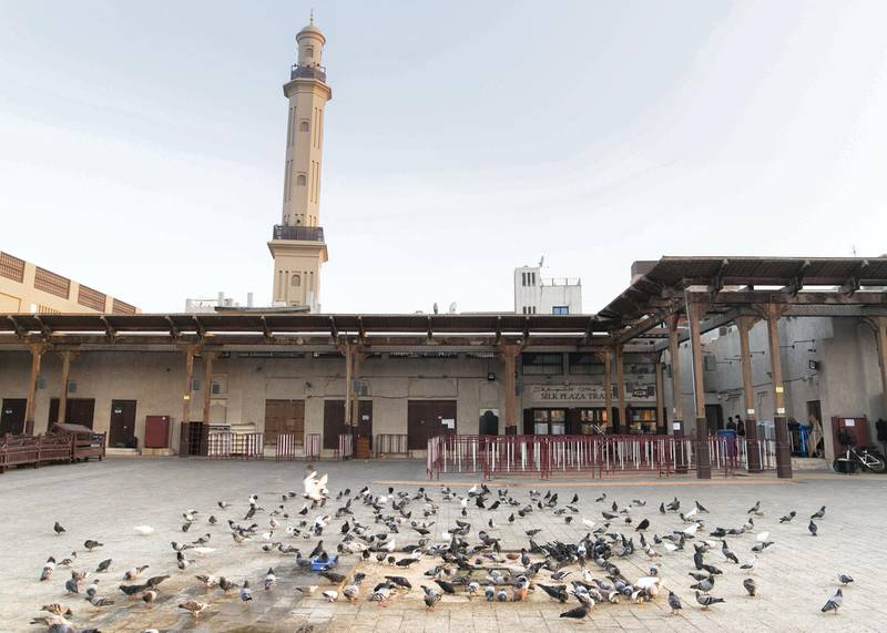 DUBAI, UNITED ARAB EMIRATES. 29 SEPTEMBER 2020. Barricades to maintain social dsitancing at the Hindu temple in Bur Dubai.(Photo: Reem Mohammed/The National)Reporter:Section: