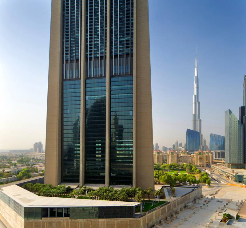 A handout photo of the Index Tower owned by Emirates Reit (Courtesy: Emirates Reit)