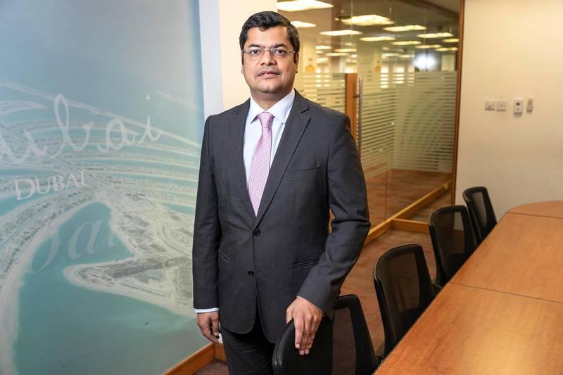 DUBAI, UNITED ARAB EMIRATES. 24 SEPTEMBER 2019. Rohit Garg, Head of Business Banking and NeoBiz at Mashreq. (Photo: Antonie Robertson/The National) Journalist: Nada Al Sewy. Section: National.