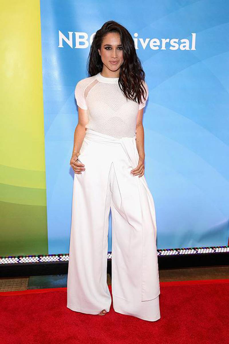 NEW YORK, NY - JUNE 24: Meghan Markle attends the NBC's 2015 New York Summer Press Day at Four Seasons Hotel New York on June 24, 2015 in New York City.   Robin Marchant/Getty Images/AFP (Photo by Robin Marchant / GETTY IMAGES NORTH AMERICA / Getty Images via AFP)