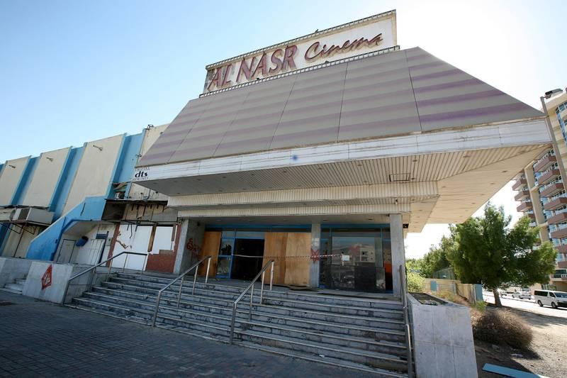 DUBAI, UNITED ARAB EMIRATES – Dec 22: View of the Al Nasr Cinema in Dubai. (Pawan Singh / The National) Story by Praveen *** Local Caption ***  PS07- ALNASR CINEMA.jpgPS07- ALNASR CINEMA.jpg