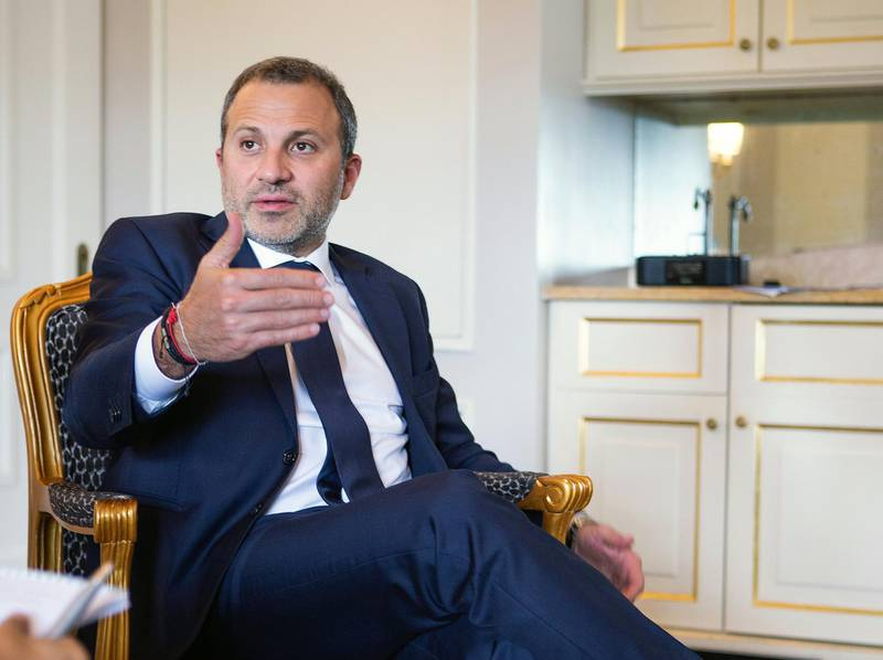 Lebanon's Foreign Minister Gebran Bassil. during an interview in New York on Monday, September 24, 2018. Bill Kotsatos for The National