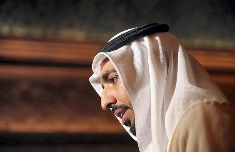 Abu Dhabi, United Arab Emirates - March 02, 2019: Sheikh Shakhbout bin Nahyan Al Nahyan, UAE Ambassador to Saudi Arabia at the OIC Ministerial Meeting. Saturday the 2nd of March 2019 at Emirates Palace, Abu Dhabi. Chris Whiteoak / The National