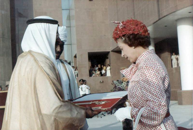 Photos of Queen Elizabeth II when she visited the UAE in 1979Courtesy  of RAMESH SHUKLA