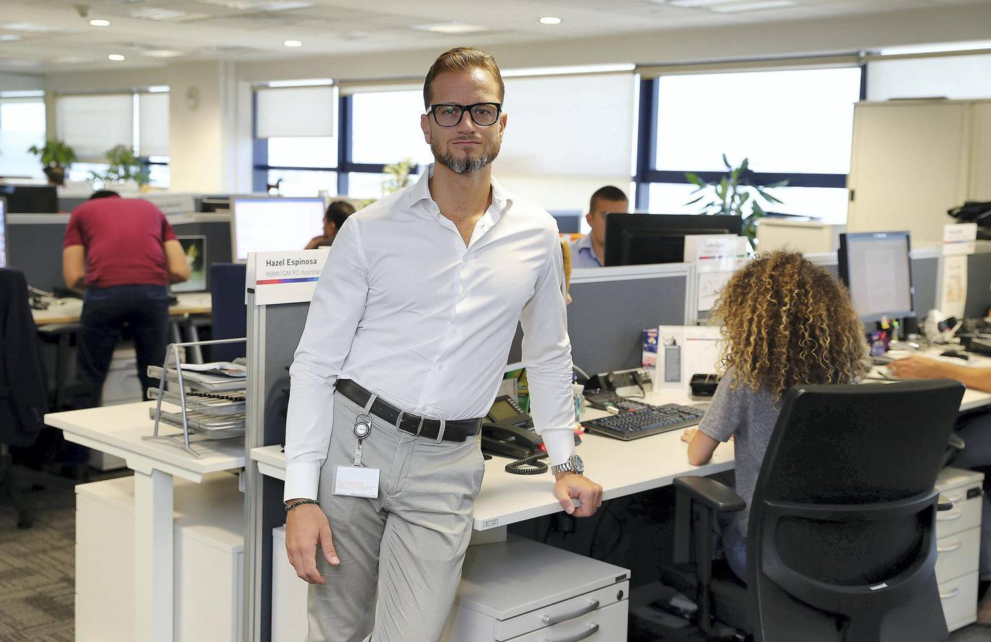 DUBAI , UNITED ARAB EMIRATES, September 12 – 2018 :- Simone Beretta , Head of HR , Bosch Middle East at his office in Dubai Airport Free zone in Dubai. ( Pawan Singh / The National )  For News. Story by Gillian