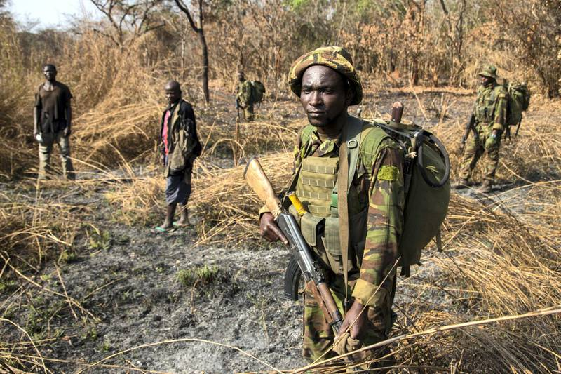 After days of pursuit, Chinko's rangers have caught two suspected poachers deep in the Chinko bush. A raid on a their camp uncovered shotguns, machetes and carcasses of antelope, buffalo, crocodile, hippo and monkey
