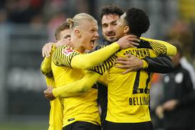 Haaland nets double as Dortmund go top of Bundesliga