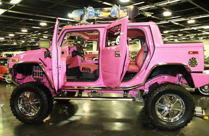 Britney Spears' Hummer H2 during California International Auto Show at Anaheim Convention Center - October 5, 2005 at Anaheim Convention Center in Anaheim, California, United States. (Photo by Michael Tran/FilmMagic)