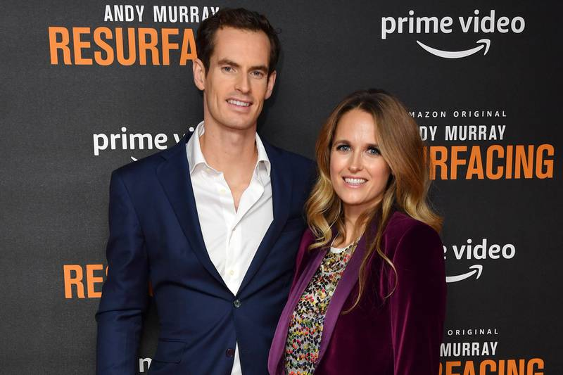 """LONDON, ENGLAND - NOVEMBER 25:  Andy Murray and Kim Sears attend the """"Andy Murray: Resurfacing"""" world premiere at the Curzon Bloomsbury on November 25, 2019 in London, England. (Photo by Gareth Cattermole/Getty Images)"""