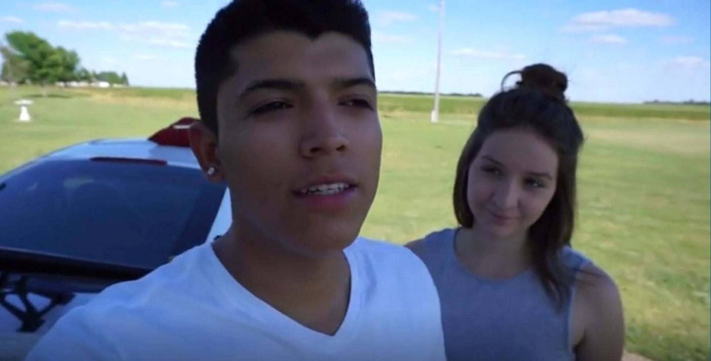 A screenshot of a video released by Norman County Attorney's Office showing Pedro Ruiz III with his girlfriend, Monalisa Perez, at their home in Halstad. Courtesy Norman County Attorney's Office