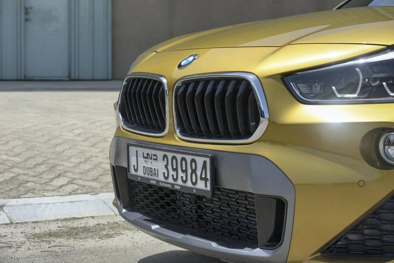Abu Dhabi, United Arab Emirates - The exterior of BMW X2 at Mina Port on April 29, 2018. (Khushnum Bhandari/ The National)