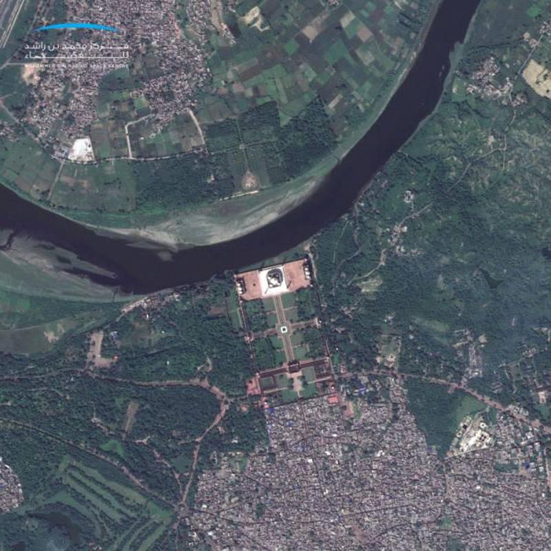 TajMahal, India. Courtesy Mohammed bin Rashid Space Centre