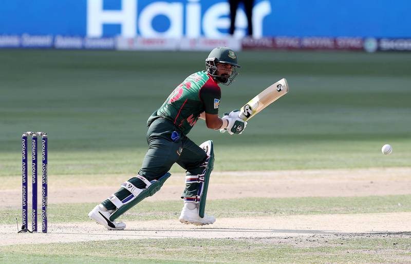 DUBAI , UNITED ARAB EMIRATES, September 28 , 2018 :- Liton Das of Bangladesh playing a shot during the final of Unimoni Asia Cup UAE 2018 cricket match between Bangladesh vs India held at Dubai International Cricket Stadium in Dubai. ( Pawan Singh / The National )  For News/Sports/Instagram/Big Picture. Story by Paul