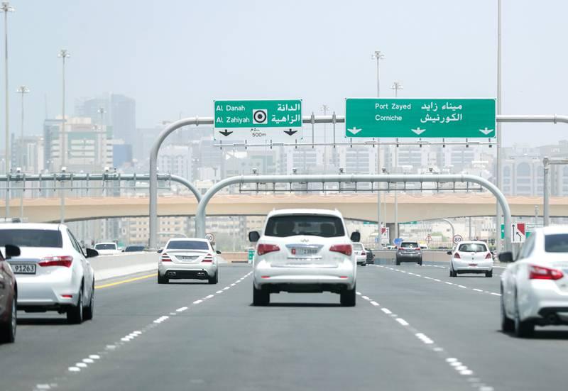Abu Dhabi, United Arab Emirates, May 15, 2019.   Dusty and sunny weather at  Abu Dhabi City.Victor Besa/The NationalSection:  NAReporter: