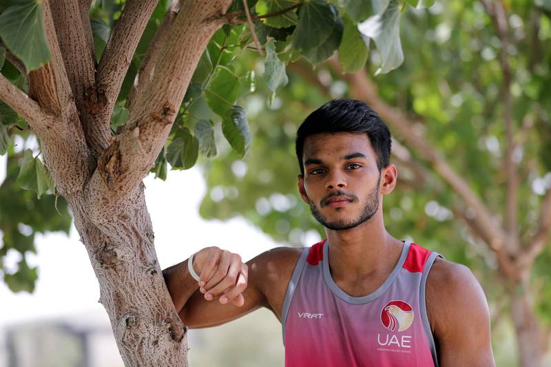 Dubai, United Arab Emirates - Reporter: Paul Radley. Sport. Profile piece on a promising UAE Under 19 cricketer Aaron Benjamin. Saturday, June 27th, 2020. Dubai. Chris Whiteoak / The National