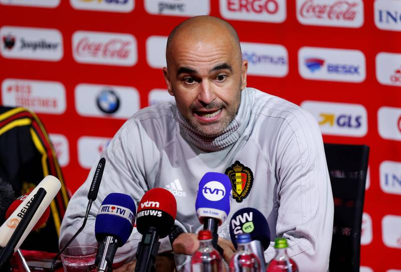 Soccer Football - Belgium Press Conference - Belgium Football Centre, Tubize, Belgium - March 26, 2018   Belgium coach Roberto Martinez during the press conference   REUTERS/Francois Lenoir
