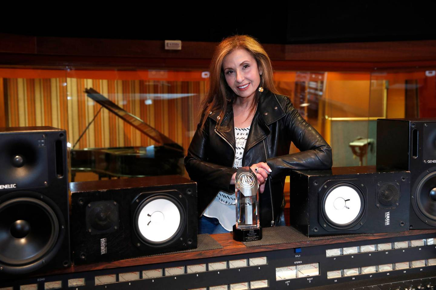 Lebanese producer Dawn Elder at the Sound Studio in Hollywood, California, USA 20 June 2018.