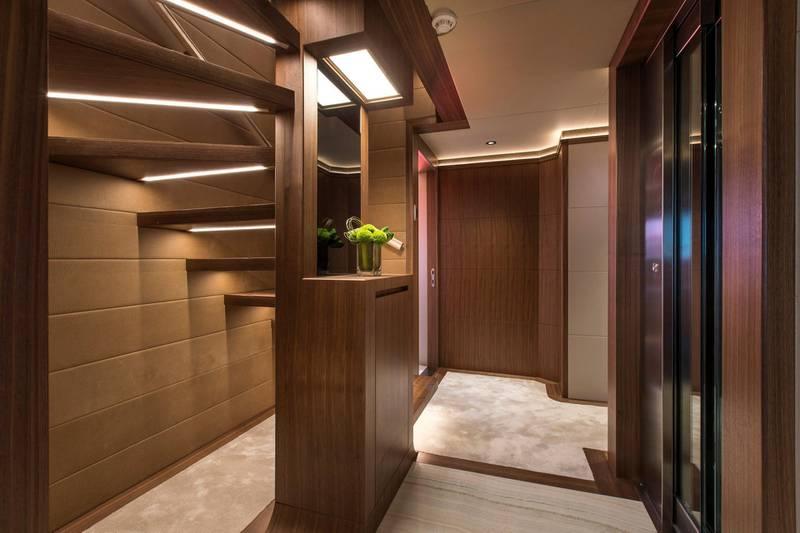 Majesty 140 - Interior - Lower Deck Lobby. Courtesy: Seven Media