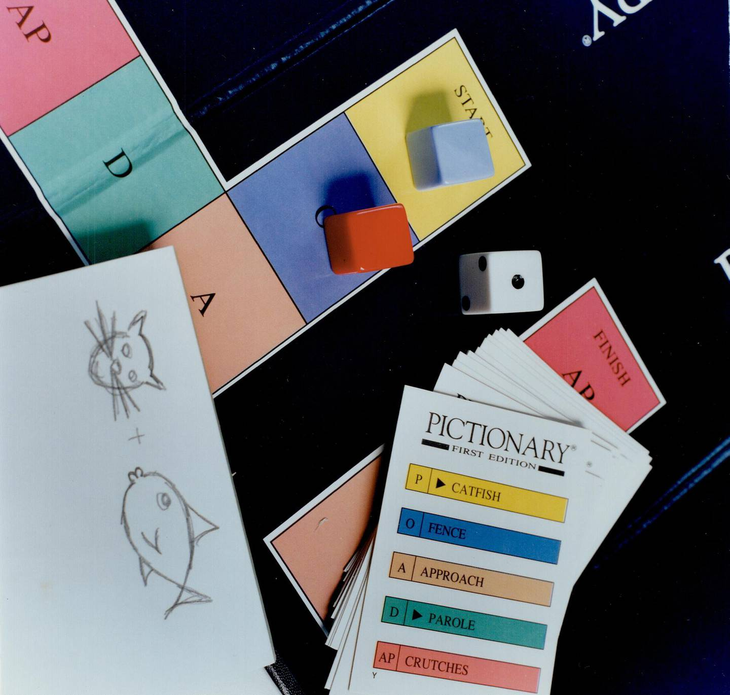 CANADA - FEBRUARY 12: Pictionary; a team game that involves sketched clues; should reach sales of one million this year. (Photo by Keith Beaty/Toronto Star via Getty Images)