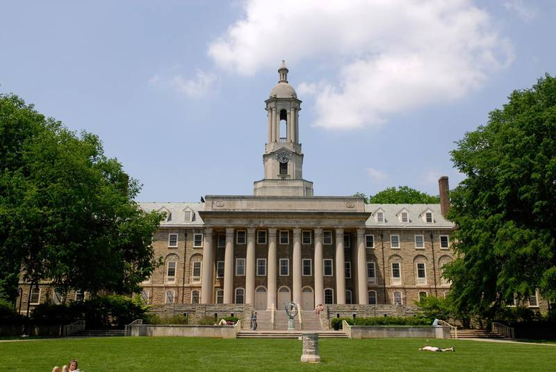 ADBMGM Old Main Building on the campus of Penn Pennsylvania State University at State College or University Park Pennsylvania PA