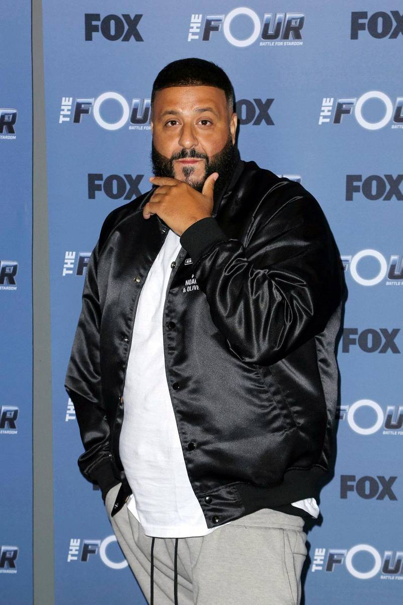 """Mandatory Credit: Photo by Willy Sanjuan/Invision/AP/REX/Shutterstock (9697205af) DJ Khaled arrives at the LA Premiere of """"The Four: Battle For Stardom"""" at the CBS Radford Studio Center, in Los Angeles LA Premiere of """"The Four: Battle For Stardom"""", Los Angeles, USA - 30 May 2018"""