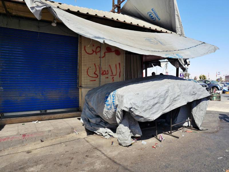 Pictured: A second now-closed market stall at the edge of the market belonging to the men who have been charged with the attack on the 16-year-old victim.  19/10/2020 Photographer: Charlie Faulkner
